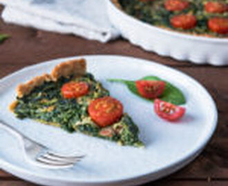 Vegane Spinat Quiche