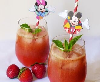 Strawberry Basil Mint Lemonade