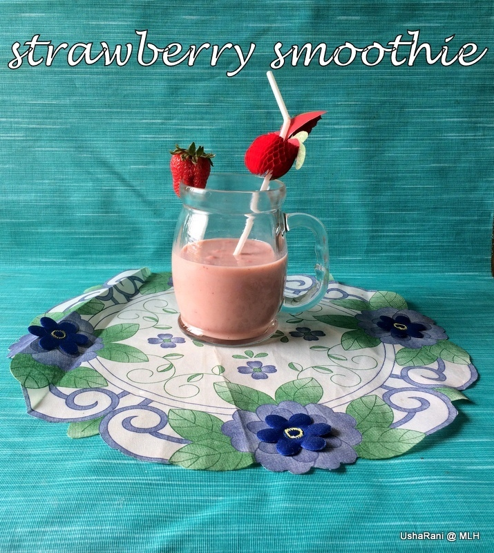 Strawberry Smoothie | Smoothie Recipes | Strawberry Recipes | Breakfast Ideas | Kids Breakfast Recipes