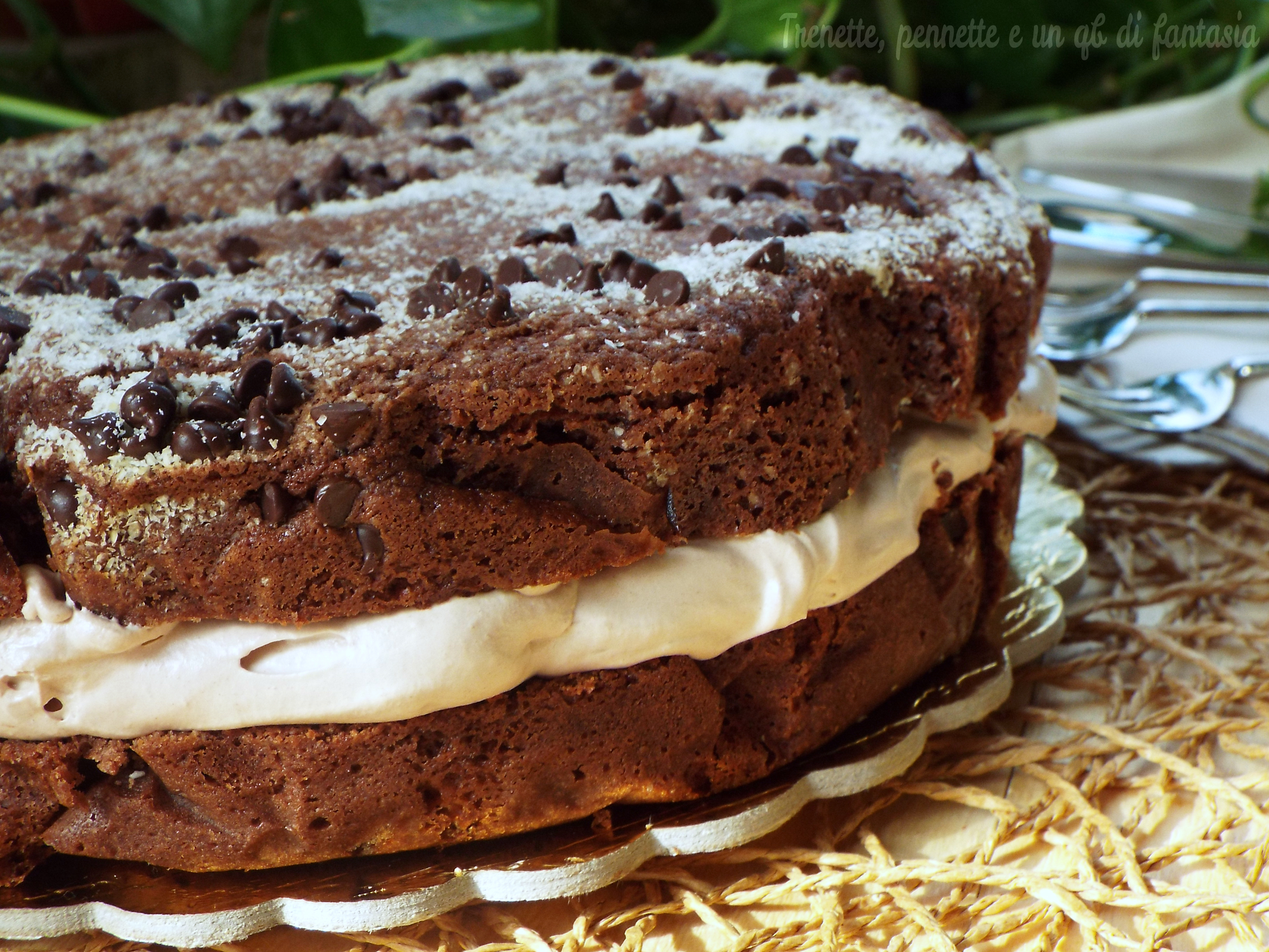 Torta Cookie morbida con mascarpone e nutella