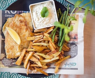 Hemmagjord fish and chips