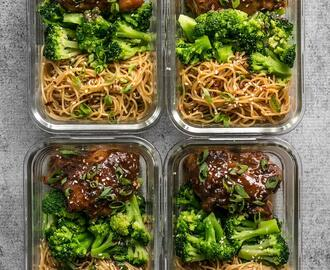 Sticky Ginger Soy Glazed Chicken Meal Prep