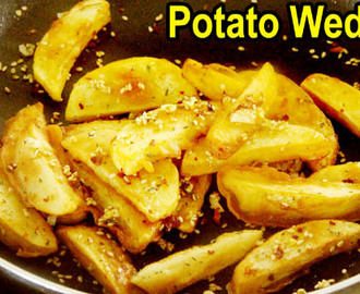 Potato Wedges | Easy Indian Snacks Recipes Vegatarian