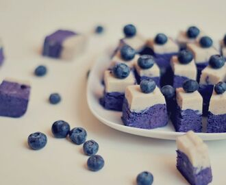 Blueberry & Vanilla cashew fudge