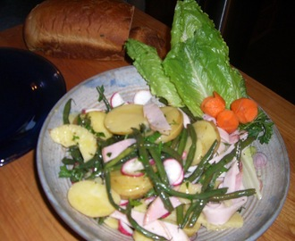 Supper is Ready – Marinated Green Beans, Ham & Potato Salad