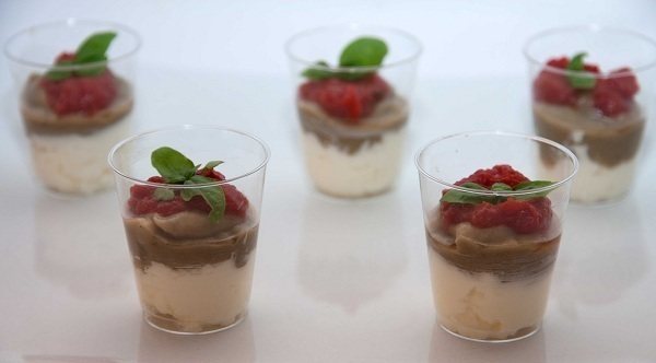 Mousse melanzane formaggio finger food