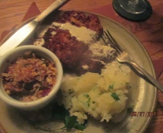 Pork Schnitzel w/ Dill Cream Sauce & Parsley Buttered Potatoes