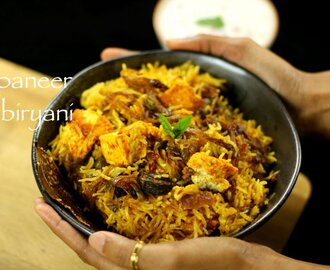 paneer biryani recipe | easy paneer biryani recipe - hebbar's kitchen