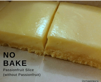 No Bake Passionfruit Slice (without Passionfruit)