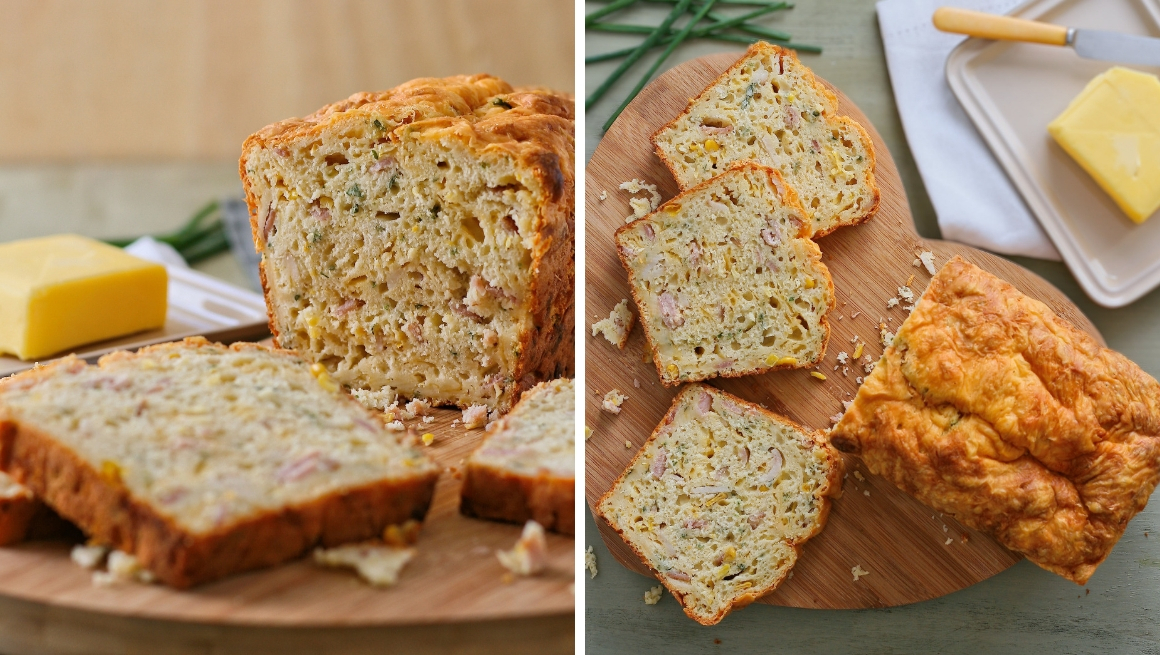 Cheesy mielie and bacon bread