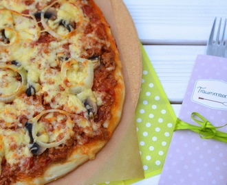 {Let's cook together} - Hackfleischpizza à la Mama