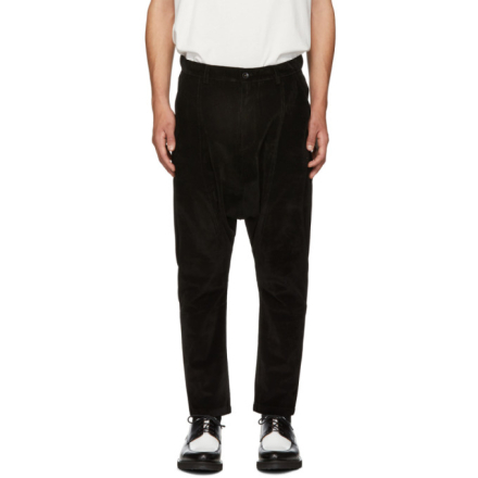 D by D Black Dropped Inseam Trousers