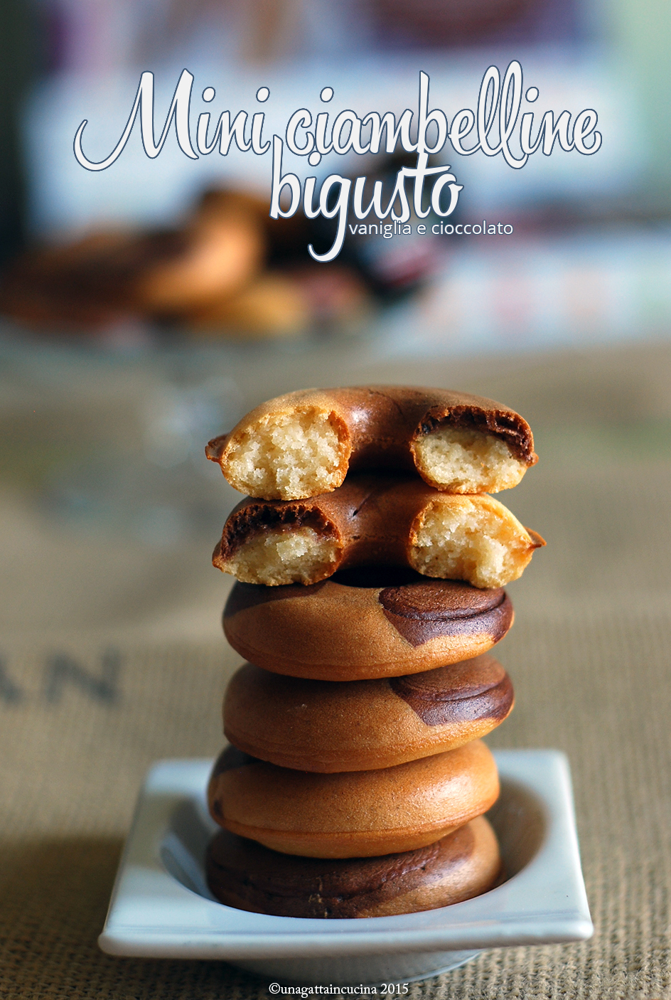Mini ciambelline bigusto | Two flavors mini donuts