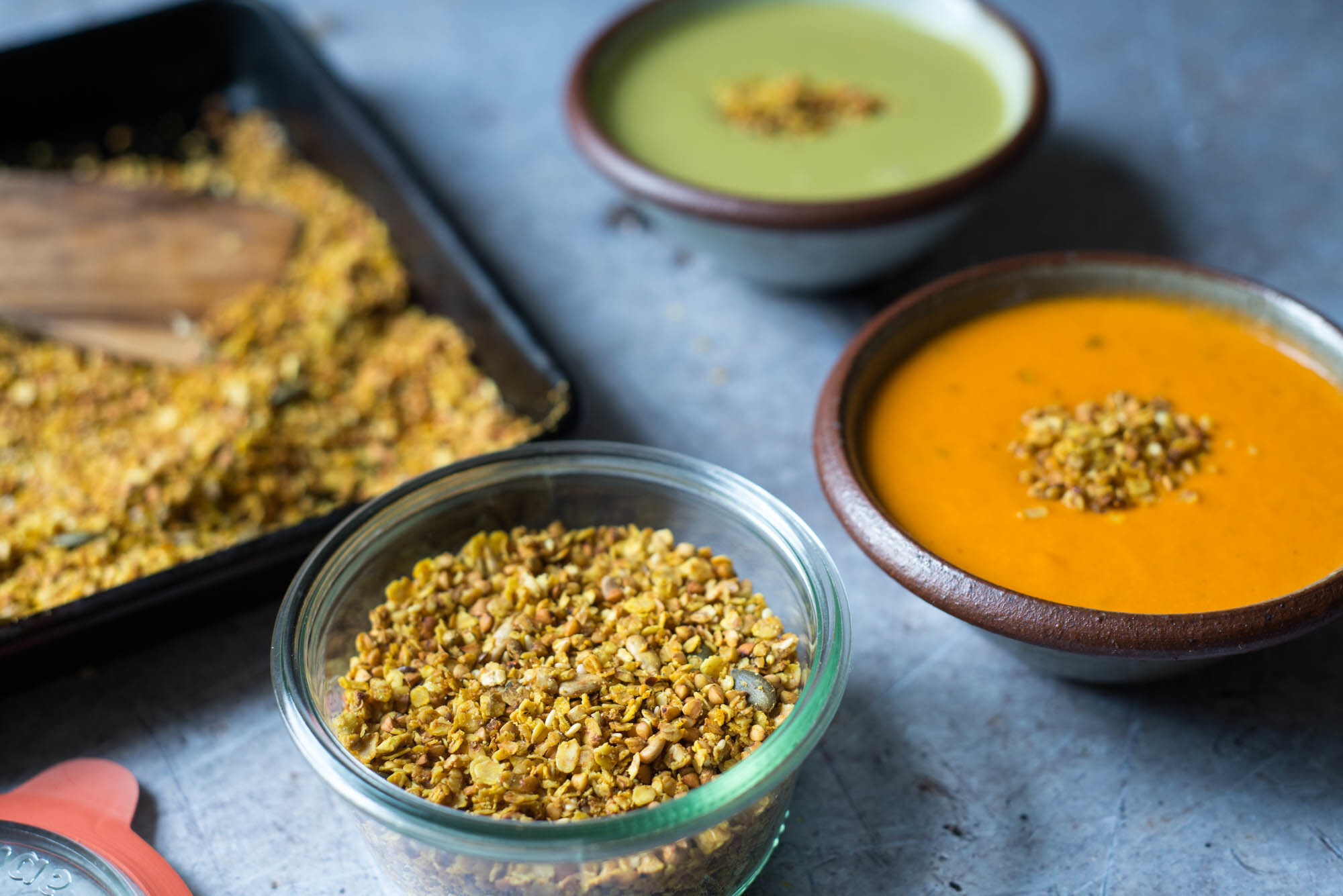 Savoury Turmeric Granola with Cully and Sully
