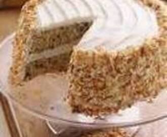 Easy Tropical Carrot Cake with Coconut Cream Cheese Frosting Recipe