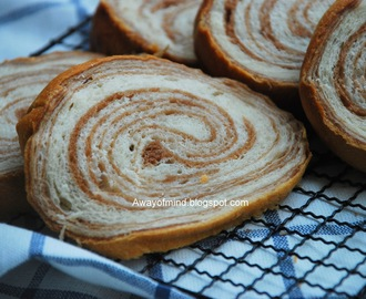 Marble Chocolate Wheel Bread 大理石车轮面包 (65C Tangzhong Method)