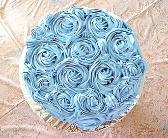 Chocolate Yam/Taro Buttercream Rose Cake