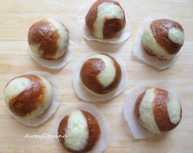 Chocolate Green Tea Bao/Bun (with red bean)