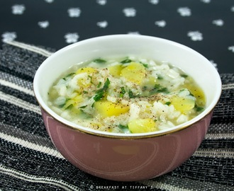 Zuppa di riso, prezzemolo e patate / Soup with rice, parsley and potatoes