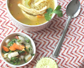 Mexican Chicken and Lime Soup (Sopa De Pollo)