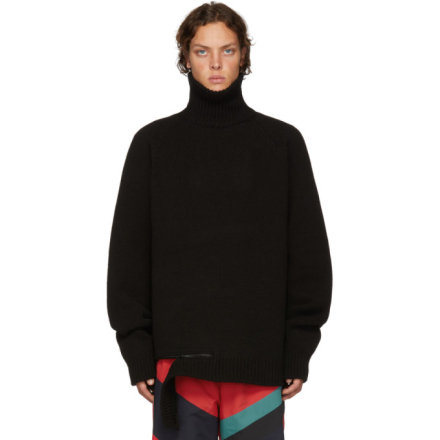 D by D Black Zip Hem Turtleneck