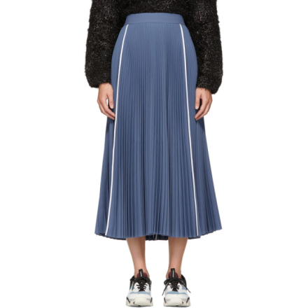 Ports 1961 Blue Pleated Skirt