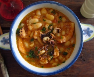 Stewed cuttlefish with white beans | Food From Portugal