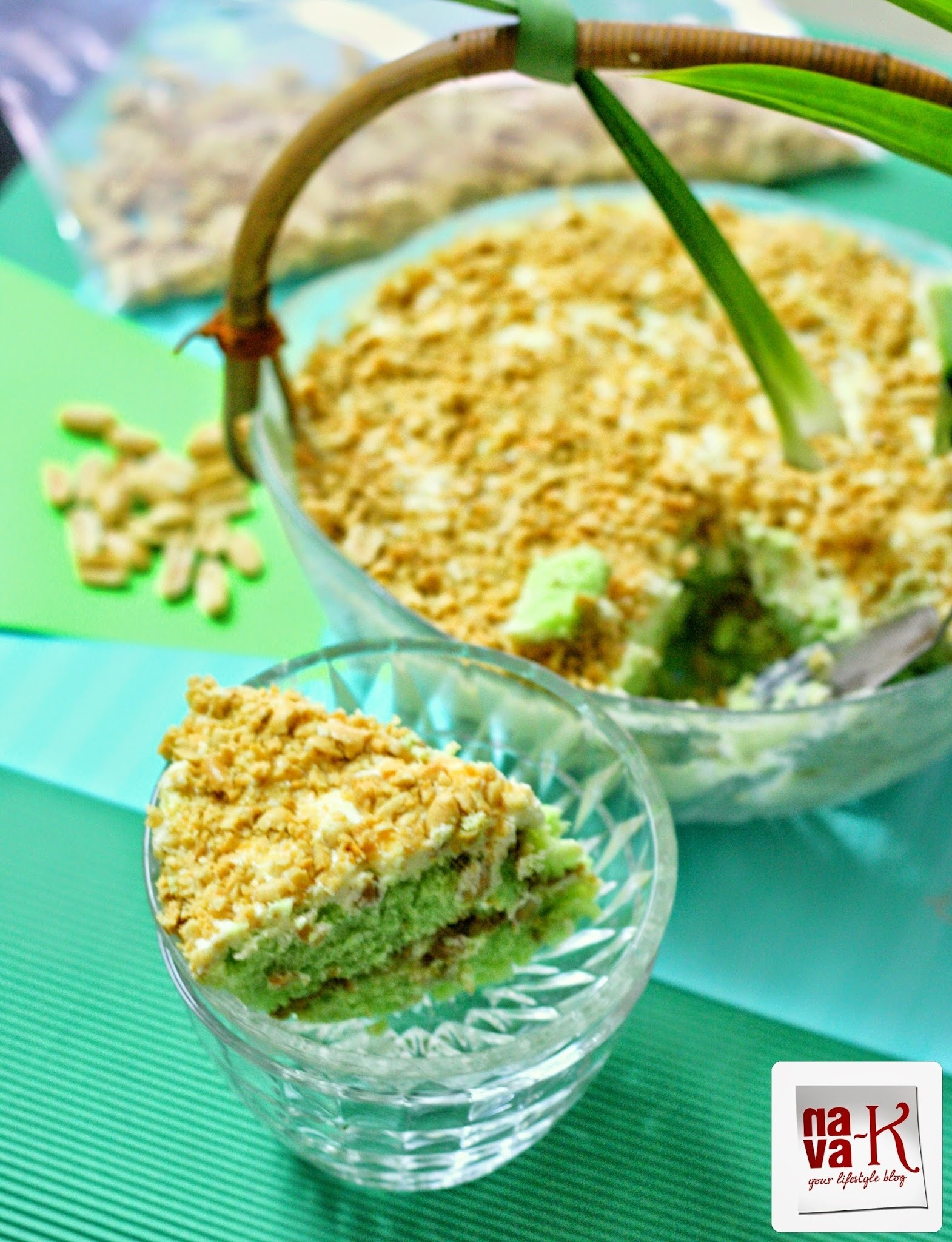 Pandan Cheese Layered Cake