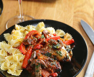 Chicken With Tomato Wine Sauce (Chicken Cacciatore)