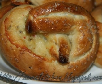 Pretzel (Jalapeno & Pepper-jack cheese stuffed) - We Knead to Bake # 8