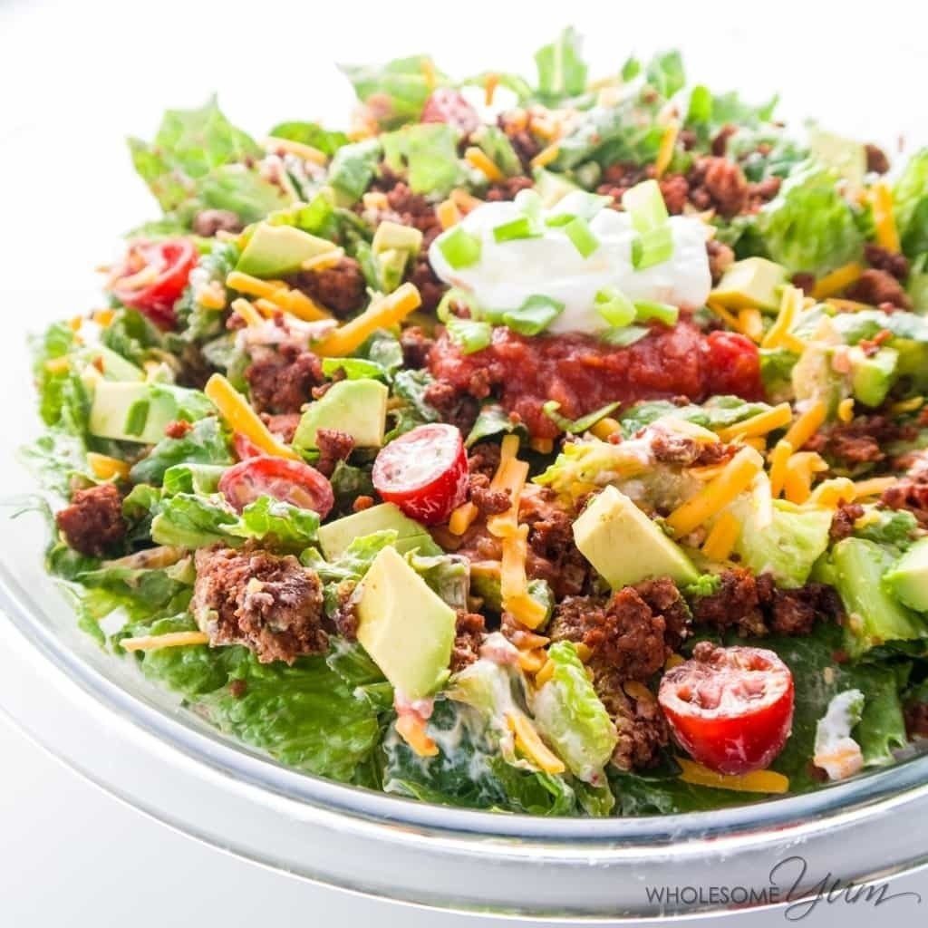 Healthy Taco Salad (Low Carb, Gluten-free)