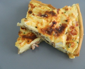 QUICHE DE BACON, SETAS Y QUESO BRIE