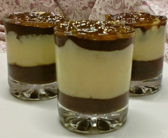 Mousse y Crema de dos Chocolates.