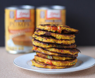 Vegetable pancakes featuring pumpkin, fennel, and tarragon #PumpkinCan