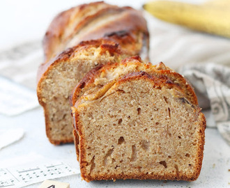 Banana bread integrale e senza lattosio