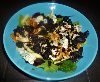 Black Pudding, Blue Cheese, Apple and Walnut Salad with a Balsamic Vinaigrette Recipe