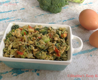 Broccoli Egg Bhurji / Scrambled Egg With Broccoli
