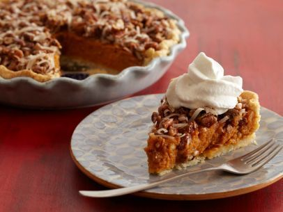 Sweet Potato Pie with Candied Pecans and Coconut