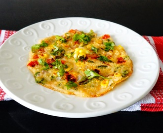 Recipe of vegetable uttapam