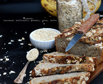 Banana bread con quinoa e cocco | Coconut and quinoa banana bread