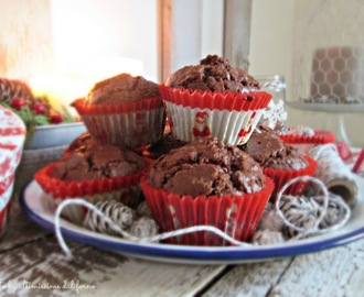 9♥ MUFFIN GOLOSI AL CACAO E NUTELLA... WAITING FOR CHRISTMAS