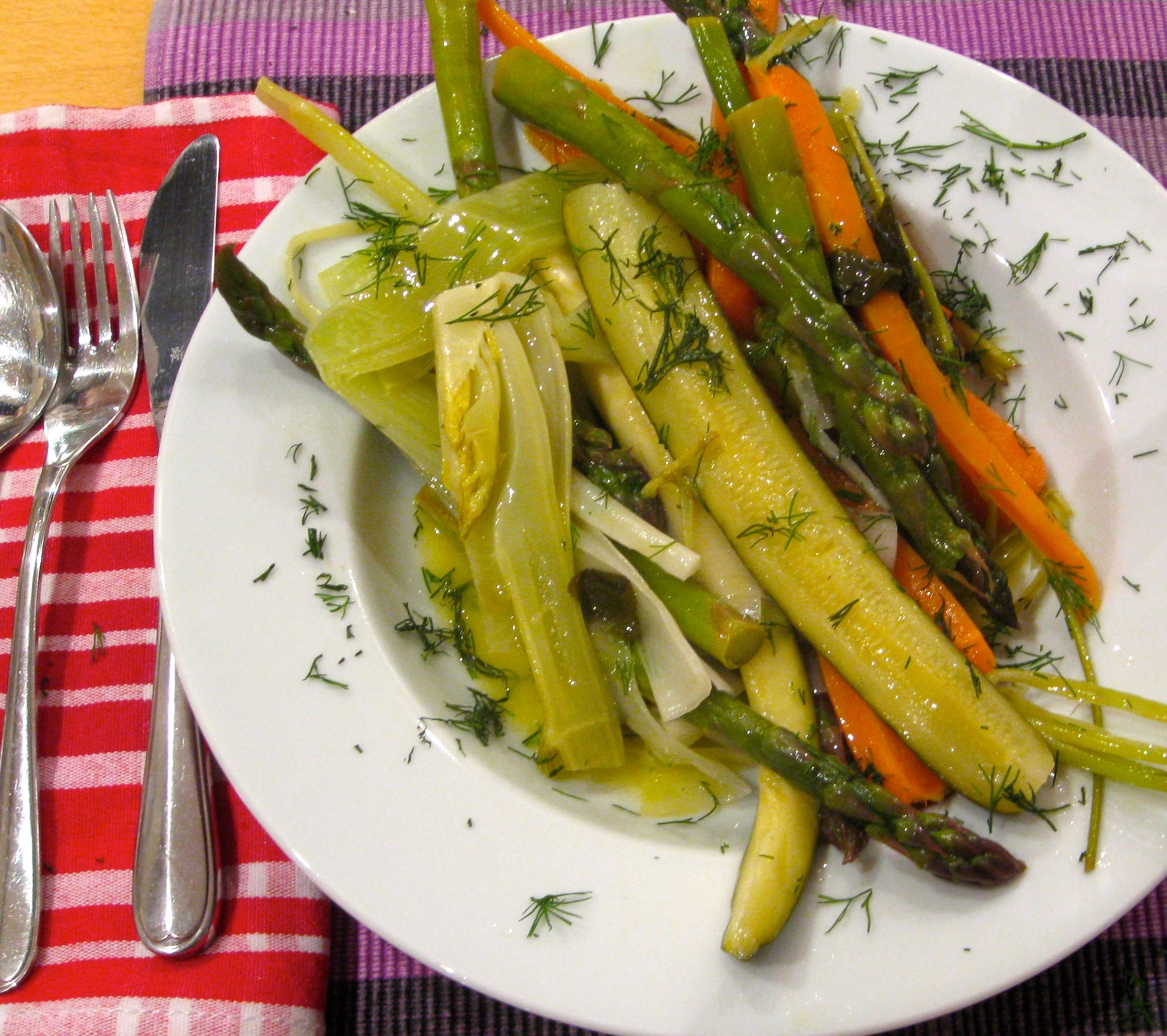 Recipe: Poached Spring Vegetables