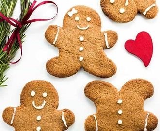 Sugar-free Gingerbread Cookies (Low Carb, Paleo)