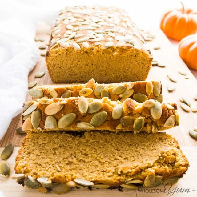 Sugar-free Pumpkin Bread (Low Carb, Paleo)