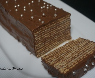 Tarta de Nutella con galletas
