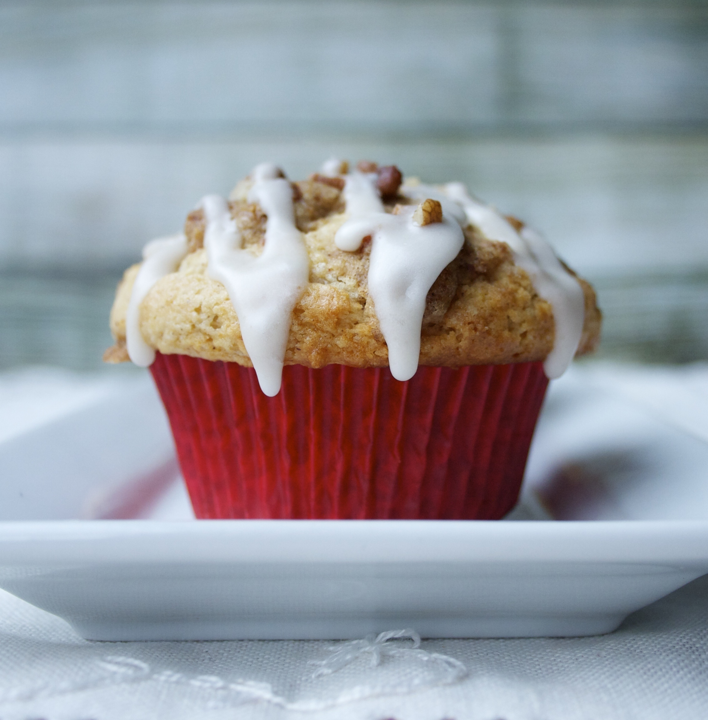 Maple Bacon Streusel Muffins with Maple Bourbon Glaze
