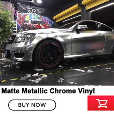 Car Styling platinum Chrome Series Satin Metallic Chrome Vinyl Wraps Graphic Design German imported glue 1.52*20m/roll