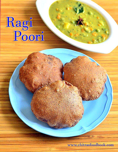 Ragi Poori Recipe – Finger Millet Poori – Ragi Recipes