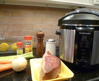 Down Home Pot Roast with Veggies. Gadget: Cuisinart Electric Pressure Cooker