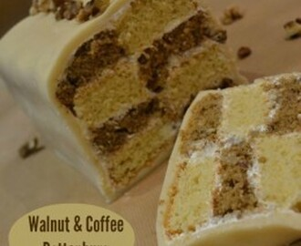 Walnut & Coffee Battenburg – Bake of the Week